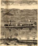 """Their Manner of Fishynge in Virginia."" Theodor de Bry's engraving of American Indians fishing, published in Thomas Hariot's 1588 book A Briefe and True Report of the New Found Land of Virginia."