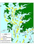 Map of eastern Chesapeake Bay, Maryland.