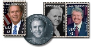 Images of fake stamps and coins from theskunk.org
