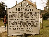 Port Tobacco, Md. historic road side marker.