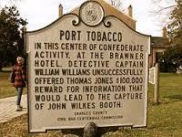 Port Tobacco, Md. historic road side marker.