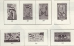 Yemen Arab Republic stamps, 1963-64.  Images of military equipment.