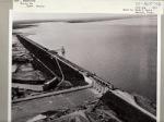 Falcon Dam on Rio Bravo Norte (Rio Grande) forming Falcon Lake, on the border of Texas and the Estados Unidos Mexicanos (United Mexican States) Image from National Archives and Records Administration NARA.gov