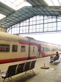 Train in Ramses Station, Cairo.