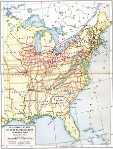 USA Civil War Era Rail Lines