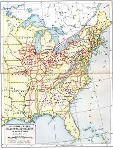 USA Civil War Era Rail Lines